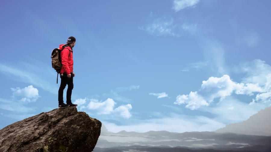 mountain climber - student loan debt